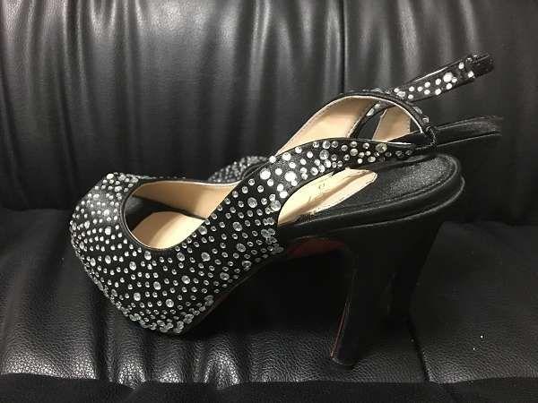 ◆火爆清庫◆Christian Louboutin鞋 女生水鑽高跟鞋