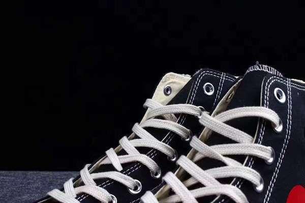CDG PLAY x Converse 1970s 2018新款 聯名款帆布高幫情侶休閒鞋 黑色