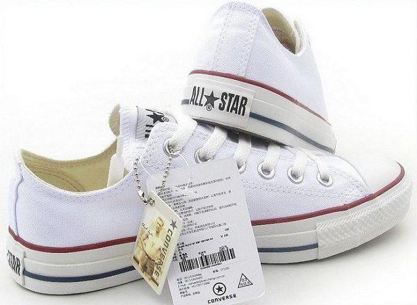 converse 匡威經典款帆布鞋 白色低幫情侶款 休閒鞋