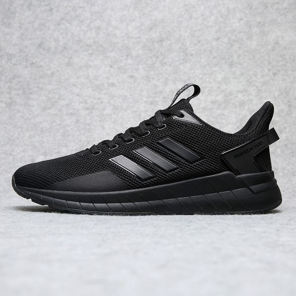 adidas neo 2019新款 情侶款網面透氣飛織輕跑鞋