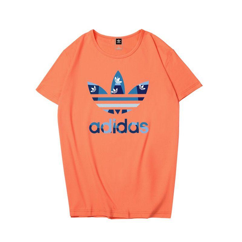 adidas衣服 2018新款 純色休閒圓領情侶短袖T恤 PF109款
