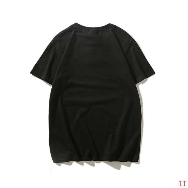 bape短T 2018新款 紅藍迷彩猿人頭印花圓領男生休閒短袖T恤 黑色