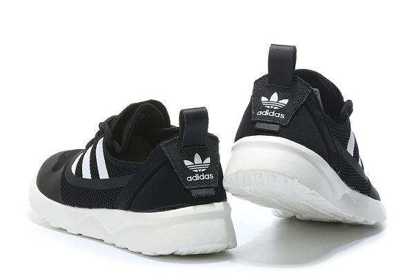 adidas zx flux adv virtue 2017新款 三葉草經典輕量網面透氣時尚情侶鞋 黑白色