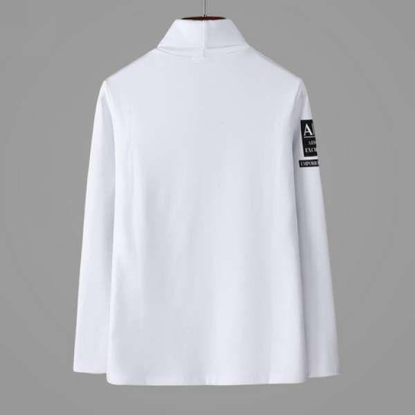 armani長袖 2019新款 簡約男生高領休閒長袖T恤 MG