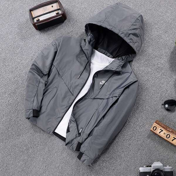 nike外套 2017新款 簡約時尚女生休閒風衣外套 7726款黑灰