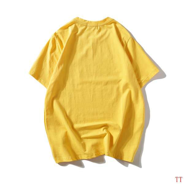 gucci衣服 2018新款 經典簽名款印花休閒圓領短袖T恤 黃色