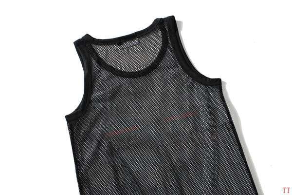 gucci衣服 2018新款 經典logo網布簽名款休閒男生背心 黑色