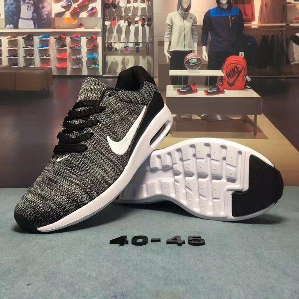 nike koth ultra low 2017新款 87款針織系列透氣時尚男生氣墊跑鞋 灰黑色