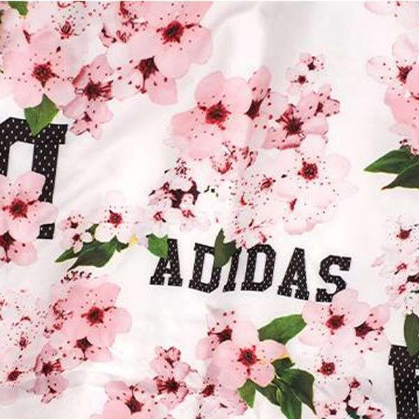 adidas外套 2017新款 花朵時尚女生休閒風衣外套 9703款白粉