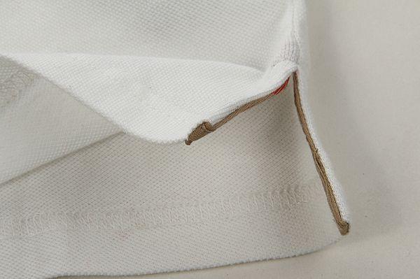 burberry巴寶莉 1104款 翻領短t簡約格紋時尚女裝 白色