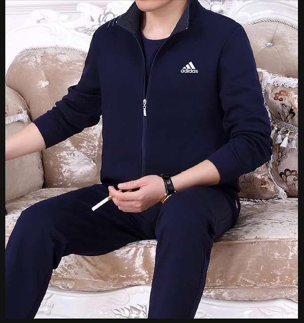 adidas套裝 2018新款 男士休閒秋冬運動套裝 TT868款