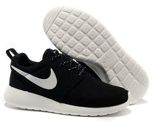nike roshe run 倫敦奧運經典款 熱賣爆款 網面輕便情侶慢跑鞋 黑白色