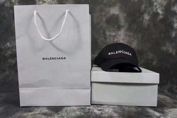 balenciaga帽子 巴黎世家刺繡字母時尚棒球帽 黑白兩色