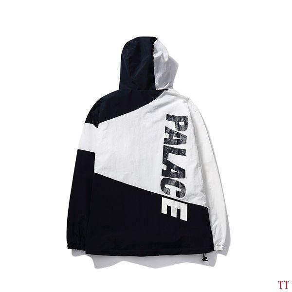 Palace衣服 2017新款 拼色字母時尚男生潮流風衣外套 黑白