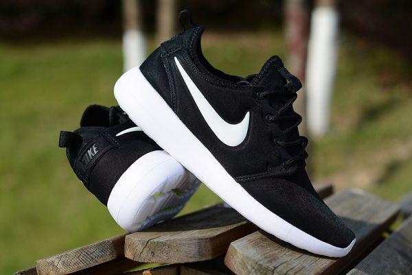nike roshe two v2 奧運倫敦2代 小run網面透氣時尚情侶跑鞋 黑白色