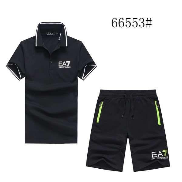 armani衣服 2018新款 簡約男生休閒短袖套裝 MG66553款