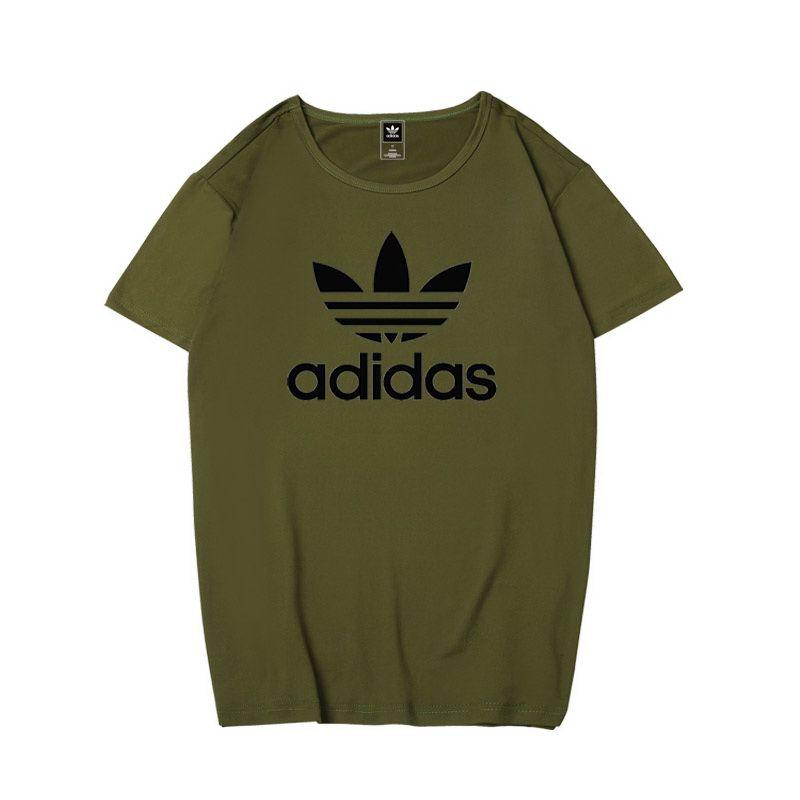 adidas衣服 2018新款 純色休閒圓領情侶短袖T恤 PF075款