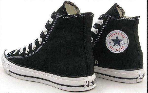 converse 匡威經典款帆布鞋 黑色高幫情侶款 休閒鞋