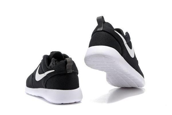 nike roshe one 2017網布新款 奧運版小run透氣時尚情侶跑步鞋 黑白色