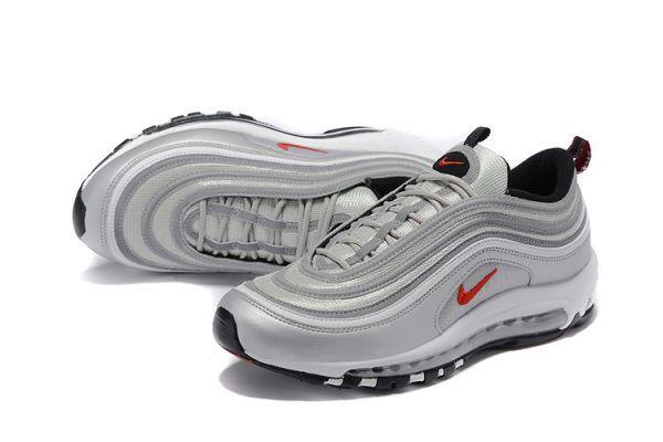 nike air max 97系列 元年復古時尚全掌氣墊情侶鞋 銀色