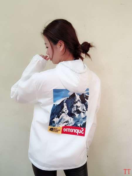 supreme衣服 2018新款 雪山聯名雙層風衣外套 白色