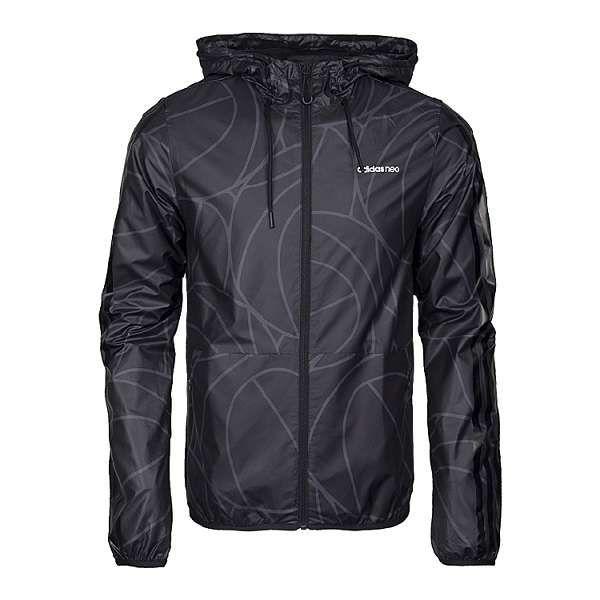 adidas外套 2017新款 條紋時尚男生休閒風衣外套 8028款黑色