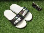 puma popcap swan 蕾哈娜同款沙灘拖鞋 夏季時尚情侶款一字拖 鐳射白底黑色