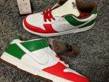 nike dunk low pro sb運動休閒滑板鞋 墨西哥拼色時尚情侶款板鞋 白紅綠