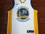nba球衣 夏季新款 勇士吸汗透氣籃球服 35號白黃