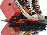 美系街頭品牌Undefeated x Converse Chuck 1970 HI復刻系列 2019新款 毛球虎紋高低幫情侶款休閒運動板鞋