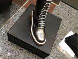Chanel 靴子 2017新款 綁帶高筒潮流女靴 銅色