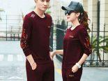 adidas套裝 2017新款 時尚情侶休閒秋冬套裝 1825款 紅色