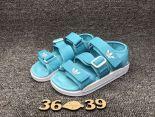 adidas愛迪達 2017沙灘涼鞋系列 三葉草超輕便時尚女鞋 淺藍色