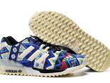 adidas originals zx700 flux 陳冠希上腳款 三葉草布藝夜光款情侶跑鞋 藍色