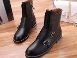Givenchy紀梵希 2017新款 金屬扣皮質簡約女生短靴 黑色