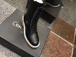 Chanel 靴子 2017新款 綁帶高筒潮流女靴 黑色