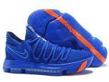 nike kd 10 2018新款 杜蘭特10代運動男生籃球鞋 藍橘