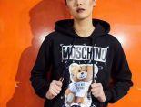 Moschino衣服 2019新款 回形針小熊男生連帽長袖衛衣 JM
