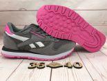 reebok cl classic leather utility 2017新款 30週年透氣時尚女生跑步鞋 深灰玫紅