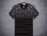 burberry t恤 2018夏季新款 漸變格子logo印花圓領男生短袖T恤 黑色