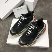 balenciaga鞋 巴黎世家2018新款慢跑鞋 3203組合底拼接情侶鞋 黑色