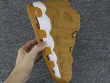 nike air more uptempo pippen 皮蓬大AIR系列 全氣墊情侶款籃球鞋 小麥色白邊