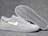 Nike Blazer Low 2018新款 新一代開拓者皮質情侶休閒板鞋 白金