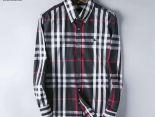 burberry襯衫 2019新款 休閒格紋刺繡標男生長袖襯衫 MG