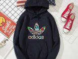 adidas 2019新款帽T 秋冬季薄款情侶款衛衣2 PF