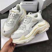 balenciaga鞋 巴黎世家2018新款慢跑鞋 3203組合底拼接情侶鞋 白灰