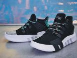 Adidas Equipment Running Suport EQT17 2018新款 中筒針織潮流情侶慢跑鞋 黑白