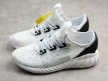 Adidas Yeezy Boost Tubular Doom Y-3 椰子王2018新款網面透氣情侶鞋 白黑色