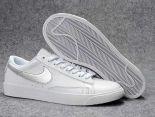Nike Blazer Low 2018新款 新一代開拓者皮質情侶休閒板鞋 白銀