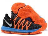nike kd 杜蘭特10代 2017新款 運動時尚男生籃球鞋 黑藍橘